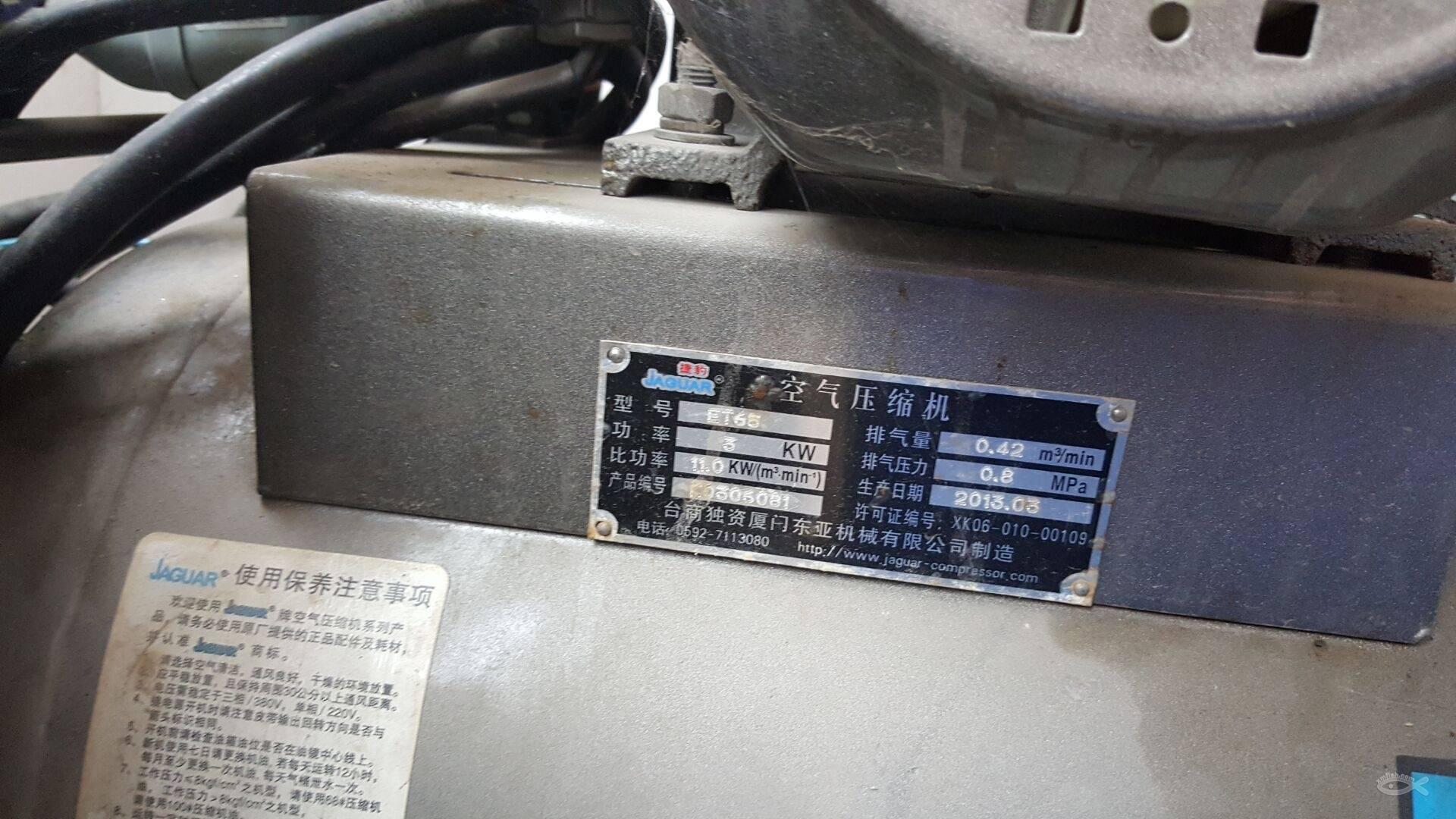 捷豹空压机,三相电,3缸闲置转让