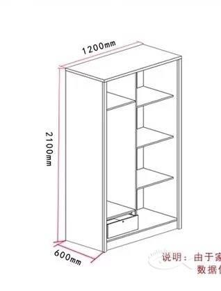白色 原木色 推拉门衣柜,滑门 移门衣柜1200mm