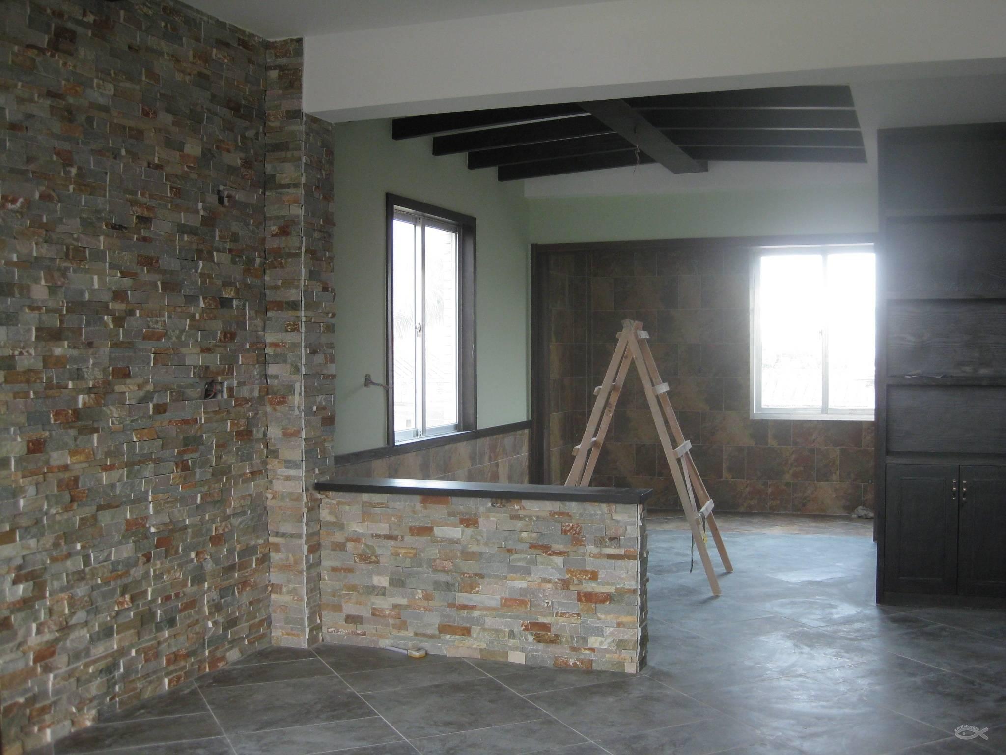 房子装修完,便宜转让洞石破边马赛克,花岗岩文化石,人造文化砖