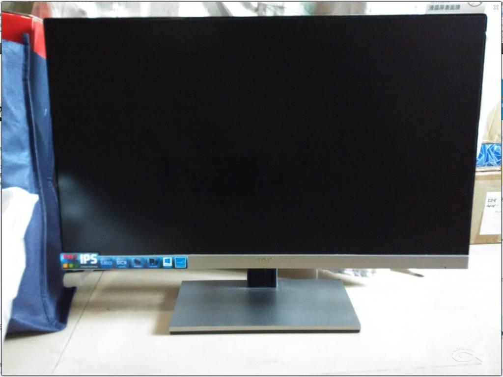 转aoc23寸ips屏银色超窄边显示器